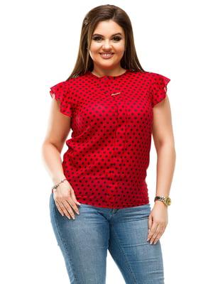 Блуза червона в горошок | 4613963