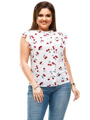 Блуза белая в принт   4613968