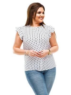 Блуза белая в горошек | 4613970