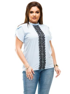 Блуза голубая   4614101
