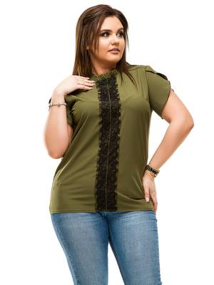 Блуза цвета хаки | 4614103