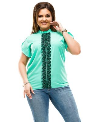 Блуза мятного цвета | 4614106