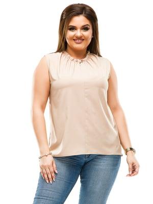 Блуза бежевая | 4614110