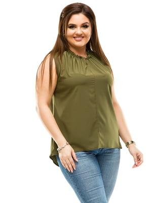 Блуза цвета хаки | 4614112