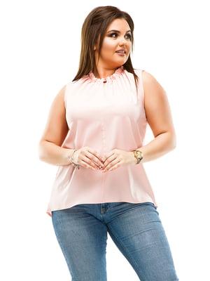 Блуза цвета пудры | 4614113