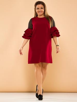 Платье бордовое | 4614146