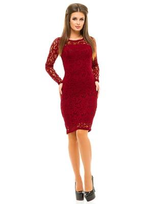 Платье бордовое | 3638961