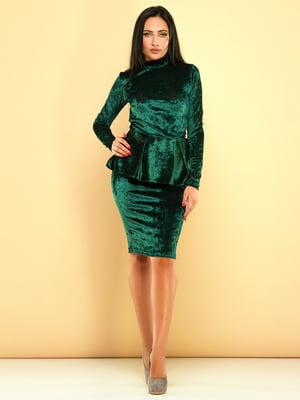 Сукня темно-зелена | 3701522