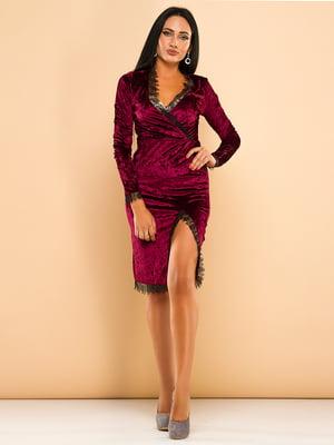 Платье бордовое   3701535