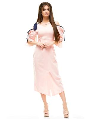 Платье цвета пудры | 4613494
