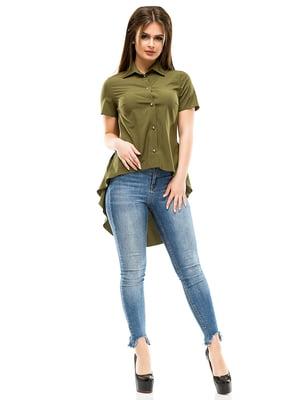 Сорочка кольору хакі | 4613501
