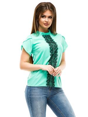 Блуза м'ятного кольору | 4613515