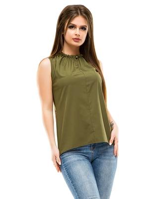 Блуза цвета хаки | 4613519