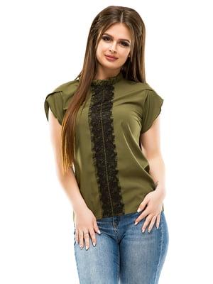 Блуза цвета хаки | 4613529