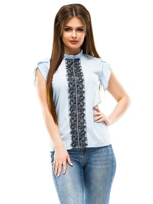 Блуза голубая | 4613531