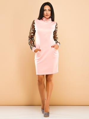 Сукня кольору пудри | 4613700