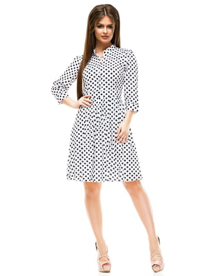 Платье белое в горошек | 4613704