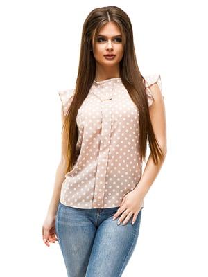 Блуза бежевая в горошек | 4613767