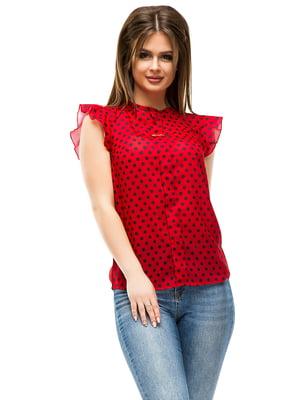 Блуза красная в горошек | 4613770