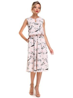 Платье розовое с цветочным принтом | 4592728