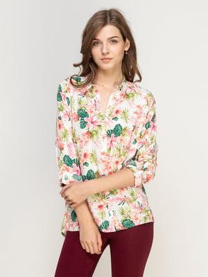 Рубашка в цветочный принт   4562853