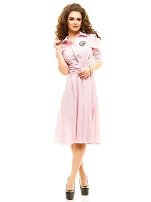 Платье розовое в полоску | 4615462
