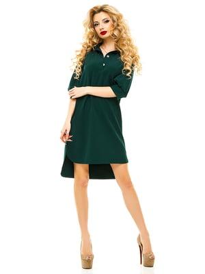 Платье темно-зеленое | 4615594