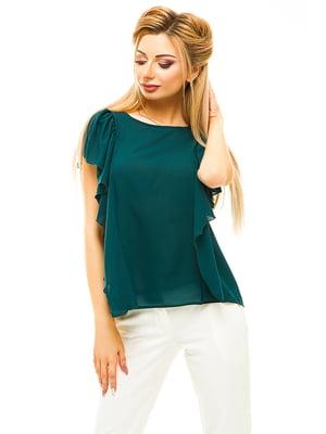 Блуза темно-зеленая | 4615675