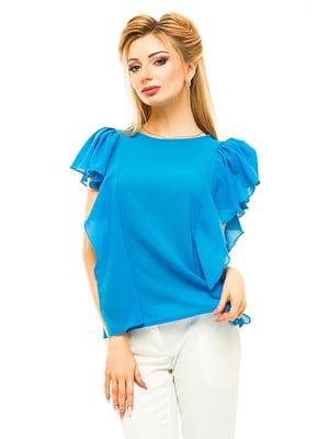 Блуза голубая | 4615680