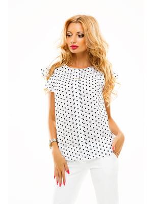 Блуза біла в горошок | 4615745