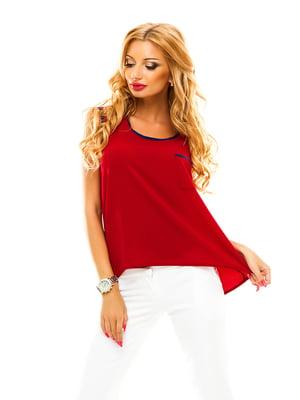 Блуза бордовая | 4615875