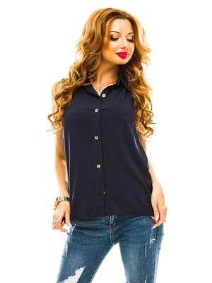 Рубашка темно-синяя | 4615886