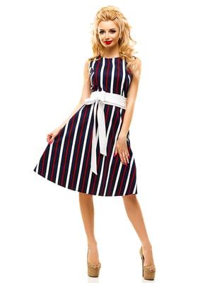 Платье темно-синее в полоску | 4615951
