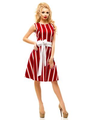 Платье красное в полоску | 4615952