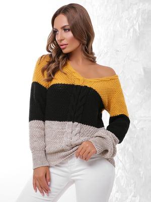 Пуловер трикольоровий | 4614399