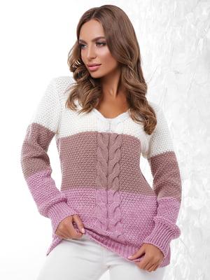 Пуловер трикольоровий | 4614402