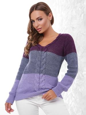 Пуловер трикольоровий   4614405