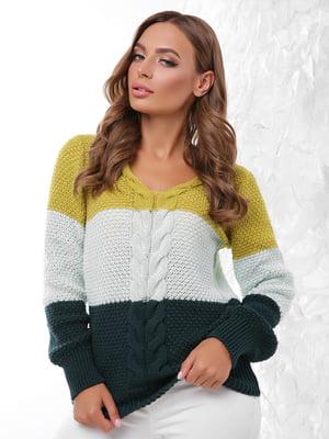 Пуловер трикольоровий | 4614406