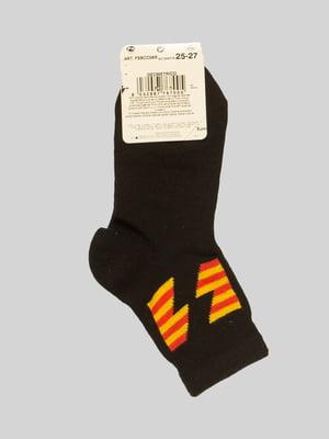 Шкарпетки чорні з малюнком | 4417642