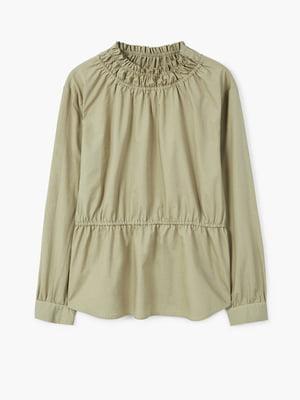 Блуза цвета хаки   4549195