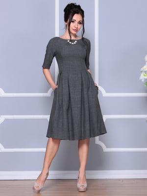 Платье графитового цвета | 4619363