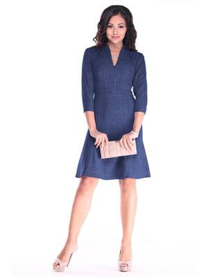 Платье темно-синее | 4619518