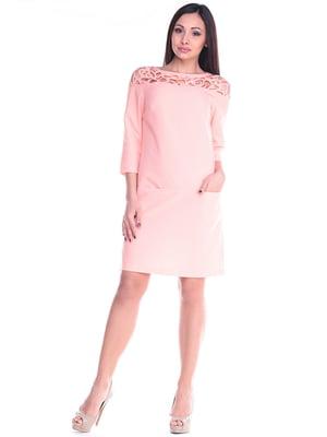 Платье персиковое | 4619758
