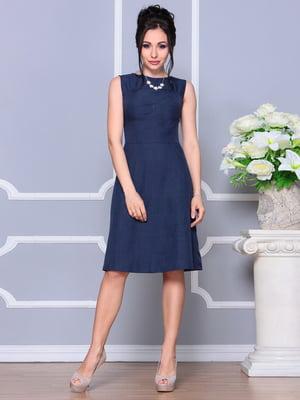 Сукня-сарафан темно-синя | 4619977