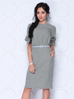 Платье темно-оливкового цвета | 4620037