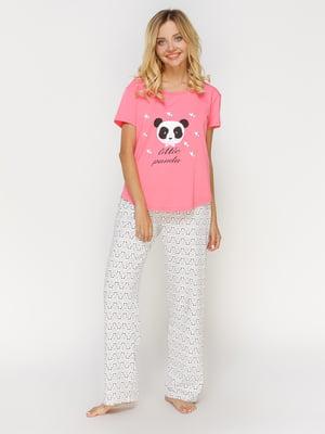 Пижама: футболка и брюки   4611272