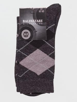 Носки темно-серые в ромбы | 4590702