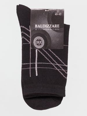 Носки черные с рисунком | 4590719