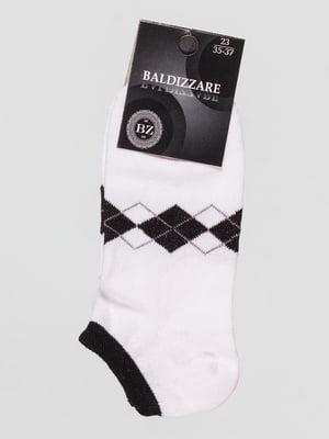 Шкарпетки білі з ромбами | 4590676