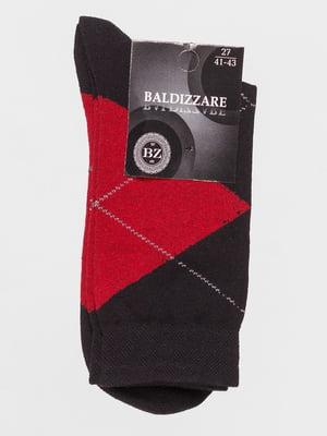 Шкарпетки чорні в ромби | 4590712
